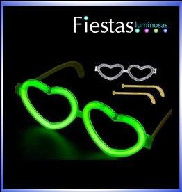 Gafas luminosas de corazón fluorescente y neón (10 uds)