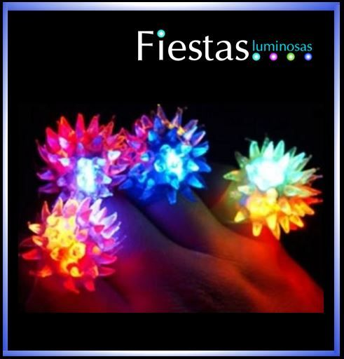 LED Spiky Rings (10 uds)