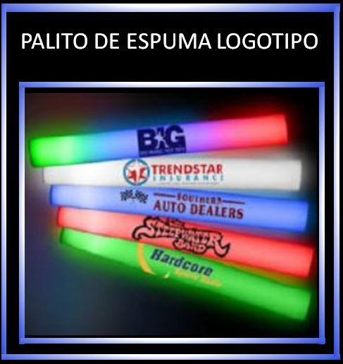 Printed foam sticks with your own logo (100 uds)
