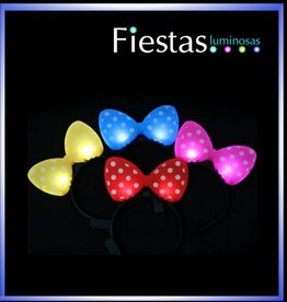 LED polka dot bow headbands – assorted colours ( 5 uds )