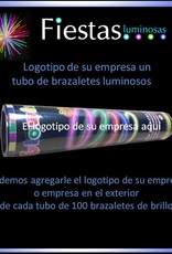 20 tubes  glow bracelets with your own business logo