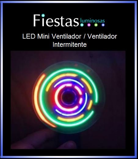 Light Up Mini Fan /Flashing Fan