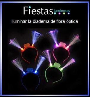 Iluminar la diadema de fibra óptica LED