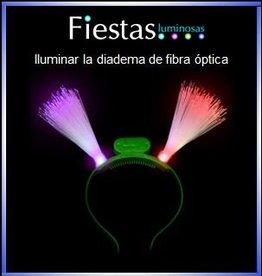 luminar la diadema de fibra óptica LED
