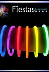 Pulseras luminosas, fluorescente.   100 pulseras neón y 100 conectores.