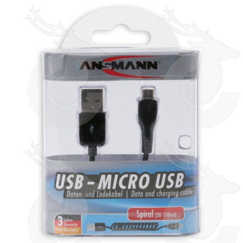Ansmann USB-Micro Spiral 20-150cm