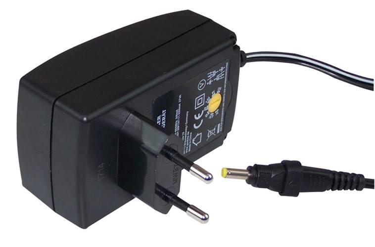Euregiohunt Netadapter 12V 2250mA diverse output voltage