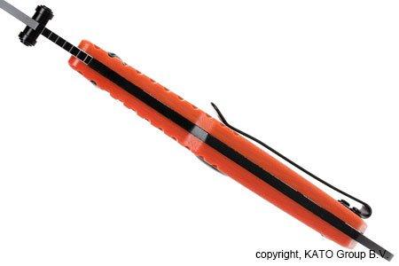 EKA Swede T9, Einhandmesser, 12C27 Stahl, G10 orange