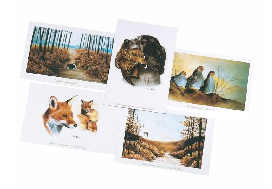 Frankonia Postkarten-Set 5 tlg. Wildmotive