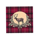 Fritzmann Checkered napkin deer