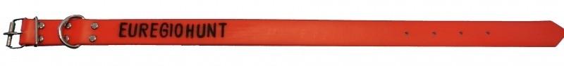 Halsbandpro BioThane halsband met gegraveerde naam en telefoonnummer