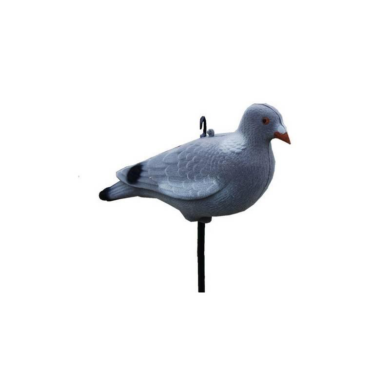 ProLoo Lokvogel volle duif incl. pin 33cm geflockt