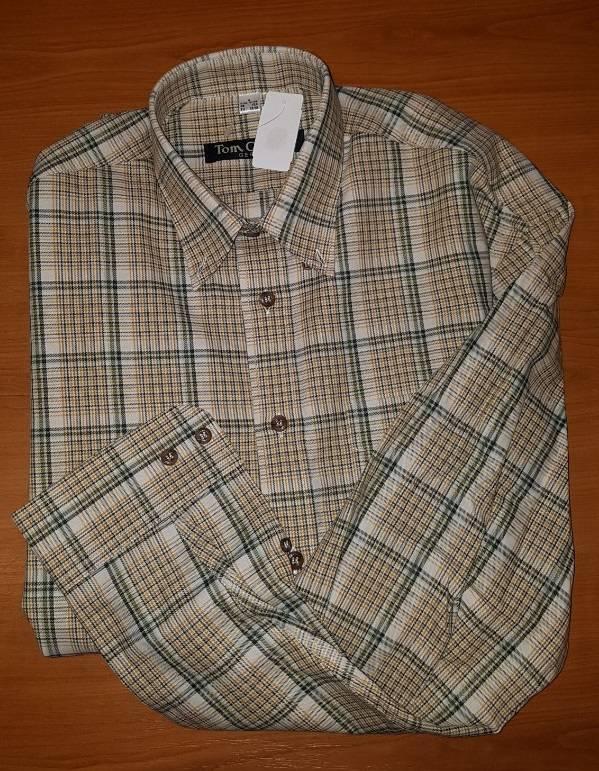 Tom Collins Overhemd geruit lange mouwen Maat S