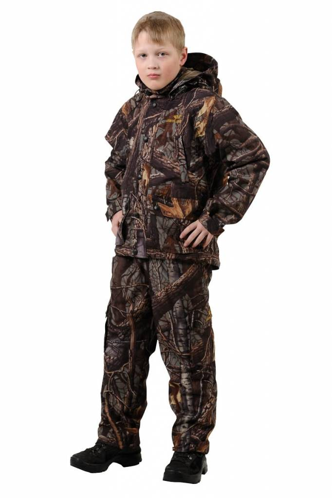 0314587c2ba33 Jahti Jakt Hardwood Camo children's trousers