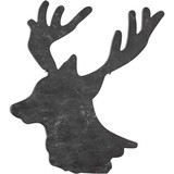 Deer Head Profile made of slate