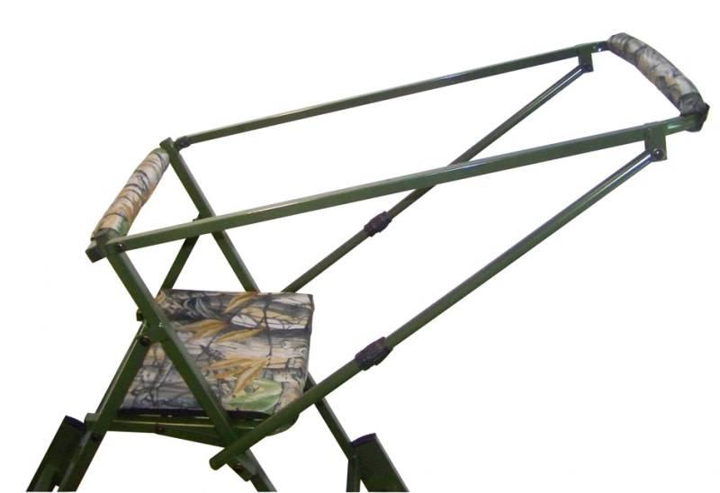 Aluminium aanzitstoel met verlengstuk