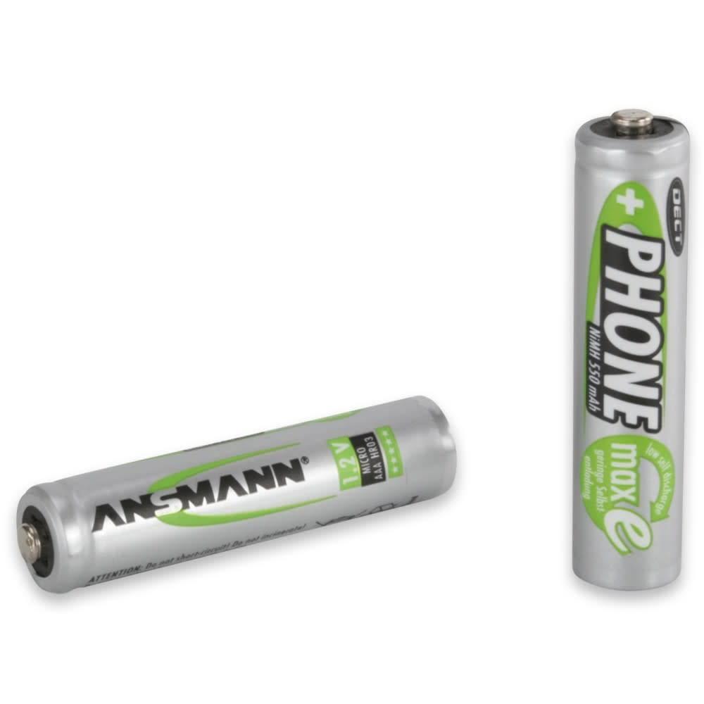 Ansmann DECT NiMH-batterij Micro AAA 550 mAh maxE 2 stuks blisterverpakking