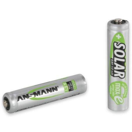 Ansmann Solar NiMH-batterij Micro AAA 550 mah 2 stuks blisterverpakking