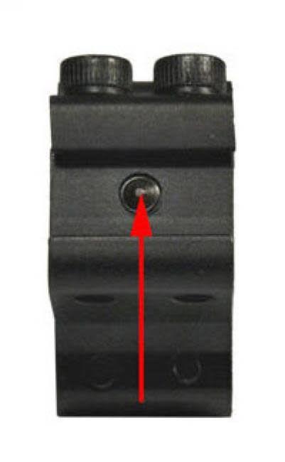 Lensolux Bevestigingen voor 11 mm Prism Rail 2-delige Alu-bevestiging