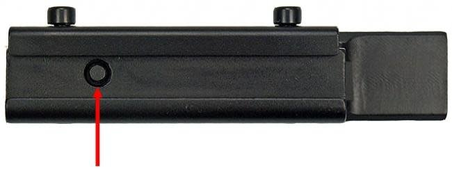 Lensolux Adapterrail van 11 mm tot 21,5 mm (Weaver / Picatinny)