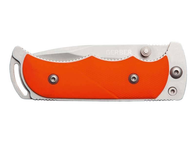 Gerber Handmes FREEMAN GUIDE FOLDER, staal 5Cr15MoV Liner Lock, oranje TacHide handvat, nylon etui