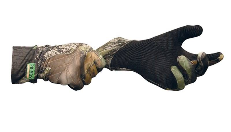 Primos Stretch-fit gloves w/sure-grip & ext.cuff - Mossy Oak®