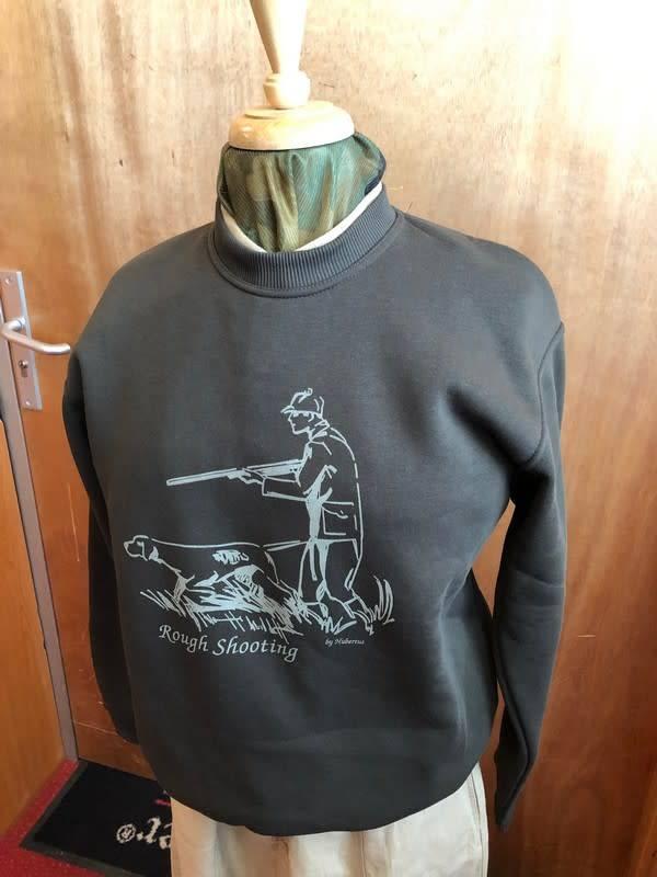 """Hubertus Sweatshirt Rundhals """"Rough Shooting"""""""