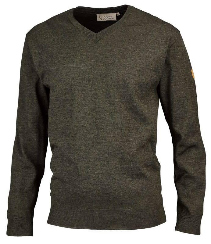 Hubertus Pullover V-Ausschnitt