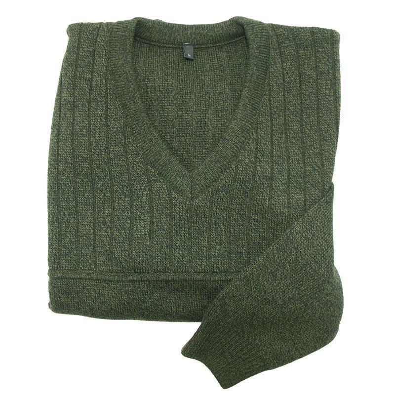 AKAH Hunter V-Ausschnitt Pullover Grün