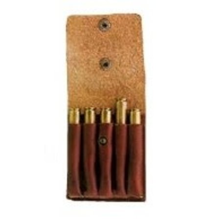 Fritzmann Cartridge case made of cowhide leather for 5 bullet cartridges