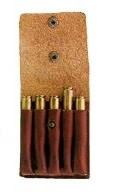 Fritzmann Patronenetui van rundleder voor 5 kogelpatronen