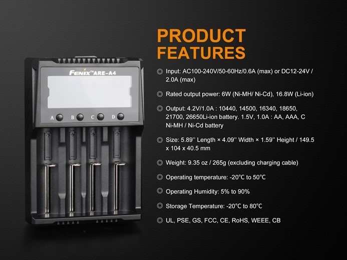 Fenix ARE-A4 Ladegerät