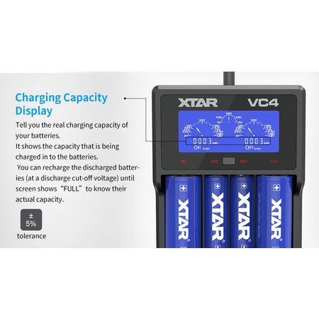 Xtar VC4 USB LCD Li-Ionen / Ni-MH-Ladegerät