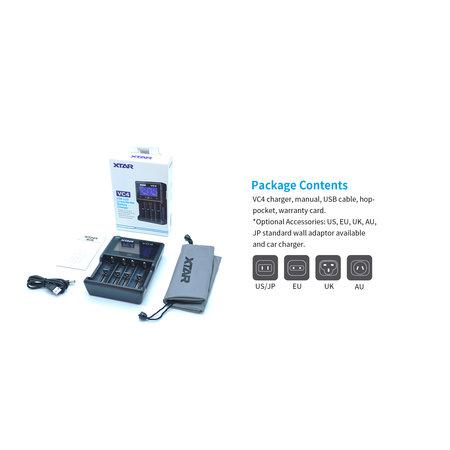 Xtar VC4 USB LCD Li-ion/Ni-MH Battery Charger