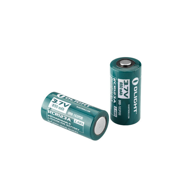 Olight RCR123A-batterij 3,7 V 650 mAh Oplaadbaar