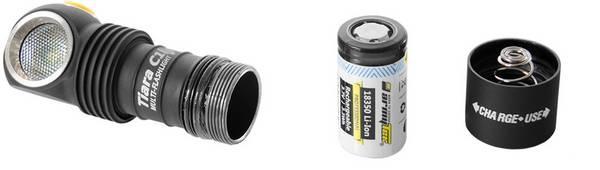 Tiara C1 Pro Magneet USB + 18350 XP-L Warm