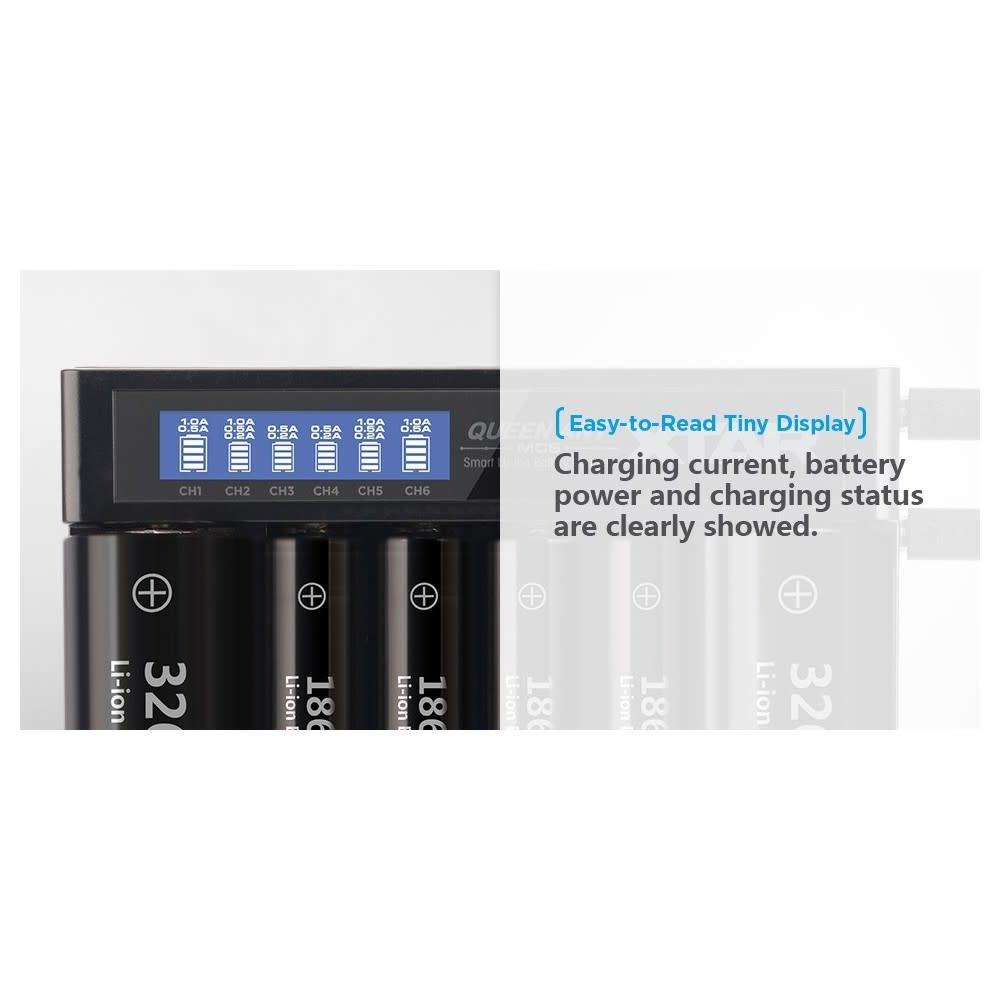 Xtar Oplader MC6 voor 6 batterijen