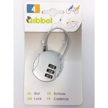 Qibbel Mini kabelslot met cijfercode - multifunctioneel