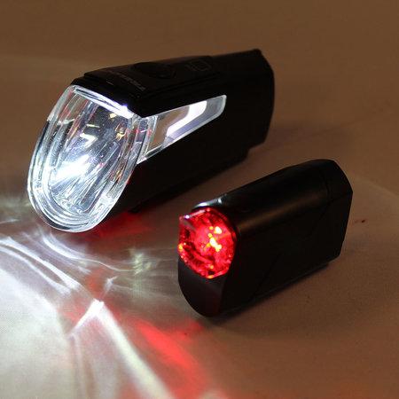 TRELOCK LS460 I-Go Power verlichtingsset zwart