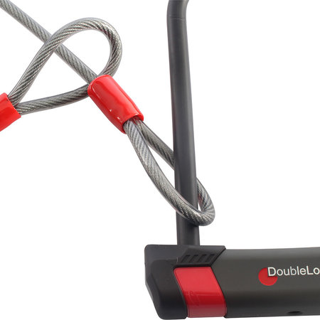 DoubleLock Beugelslot met kabel U-Lock 230/14