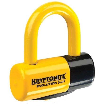 Kryptonite Evolution Disk Lock geel Premium Pack - incl. reminderkabel en tasje