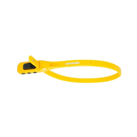 Hiplok Z Lok Combo Security Tie - Geel