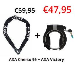 AXA 2e fietsslot aanbieding: AXA Cherto Compact 95 + AXA Ringslot Victory