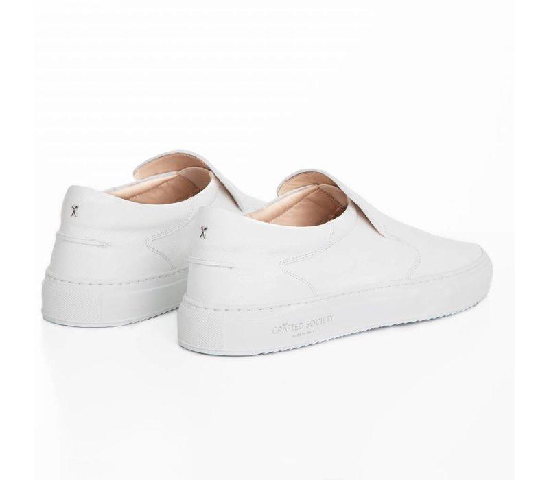 NEW Como Slip-on White Safiano
