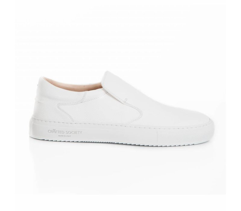 Como Slip-on White Saffiano