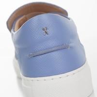 Como Slip-on Marche Blue Safiano