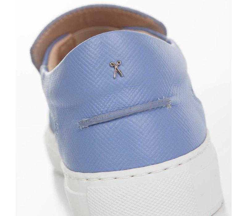 Como Slip-on Marche Blue Saffiano