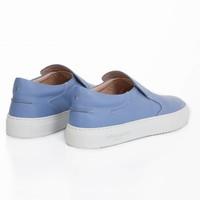 NEW Como Slip-on Marche Blue Safiano