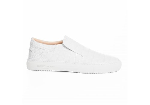 Como Slip-on White croc-effect