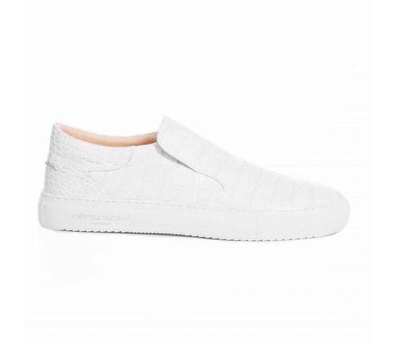 NEW Como Slip-on Gabon croc white -2 pairs LEFT